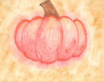 "Original Art Print, ""Pumpkin"""