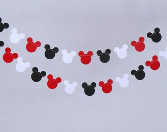 Mickey Mouse, Garland, Banner.  10 foot Mickey Mouse Garland, Mickey Mouse Banner, Mickey Mouse Garland for Birthday party.