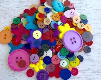 200 Colorful Mix Lots Buttons, Resin Mix Button, Candy Colors Button, Baby Button, Craft Buttons Mix Pack, DIY Craft Mix, Mix Pack Lot #42