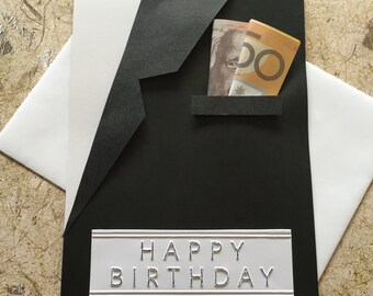 Handmade Men's suit jacket  Birthday card