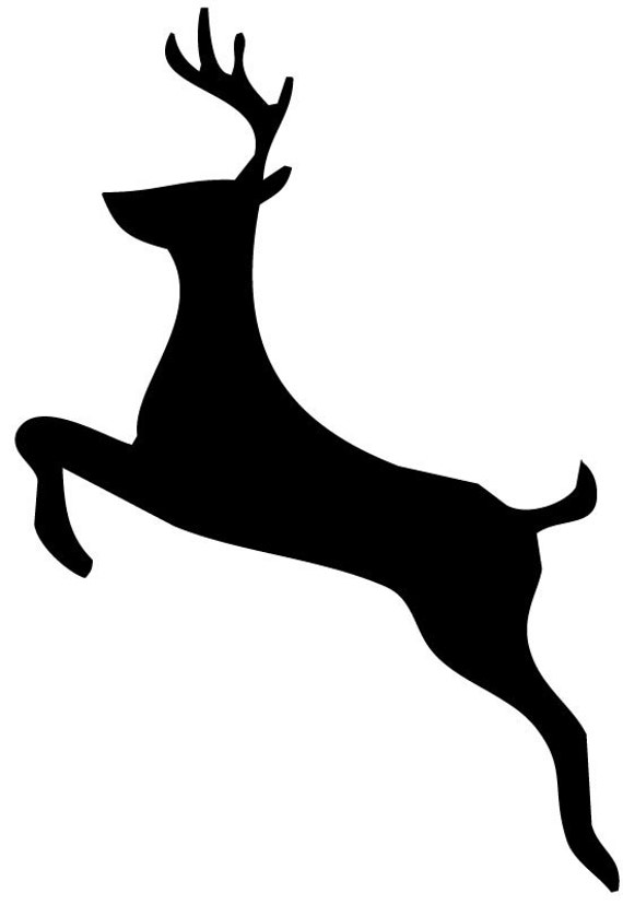 Leaping Deer Stencil Made From 4 Ply Mat Board