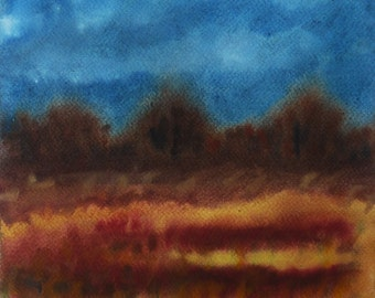 Fine Art Painting, Nature Wall Art, Landscape Painting, Watercolor Art, Home Decor Gift, Dutch Landscape Art, Landscape, Watercolor Painting,