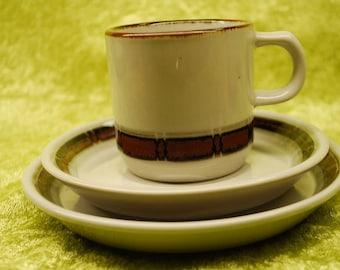 "SALE-20%OFF - Set of Desiree Denmark ""Selandia"" Vintage Set of 7 Cups, 6 Saucers and 5 dessert plates."