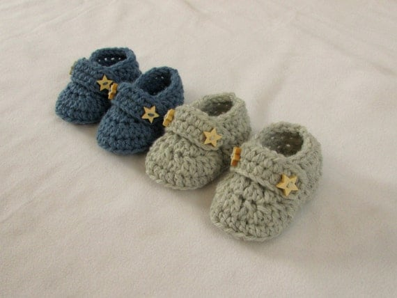 Crochet Baby Booties Written Pattern : Crochet Baby Booties / Loafers Written Pattern