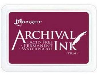 Ranger Archival Ink Plum - Purple Ink - Archive Ink - Purple Archive Ink - Ranger Purple Ink - Permanent Purple Ink - Waterproof Ink