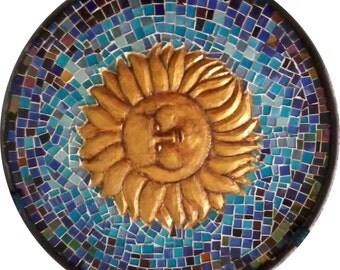 """Sun"" mosaic coffee table"