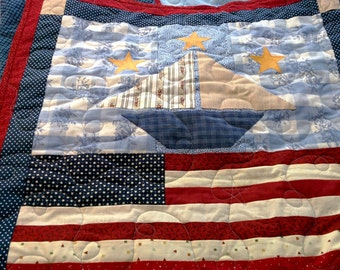 Sailboats & Flags Lap Quilt