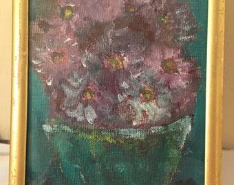 The Blushing Bouquet- Original handmade painting
