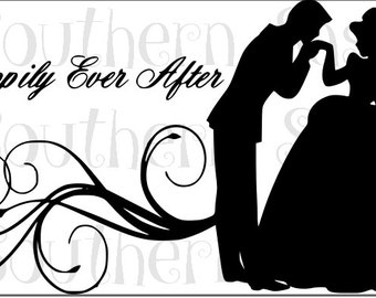 Wedding SVG File - Happily Ever After