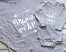Mama Bear Baby Bear Shirt/Mama Bear Baby Bear Long Sleeve Shirt Set/Mama Bear Long Sleeve Shirt/Baby Bear Shirt/Baby Bear Onesie/Shirt Set