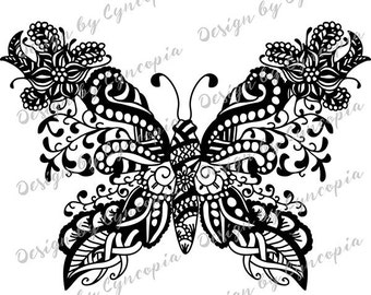 Butterfly zendoodle plot