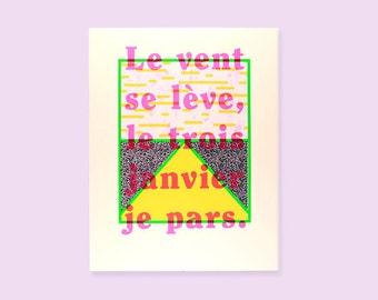 Poster Le vent