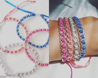 Set of 4 little bracelets in summer colors