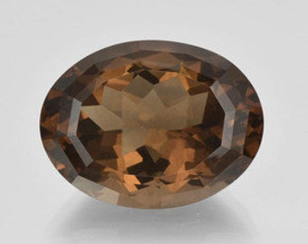 AAA Oval Shape Genuine Faceted Smoky Quartz ( 14x10mm- 20x15mm ). 811-151