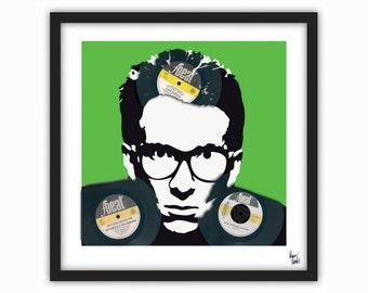 Elvis Costello - Vinyl Record Art