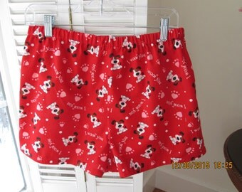 Valentine's sleep shorts for dog and people lovers