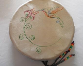 """12"""" Native Hand Drum - Hummingbird"""