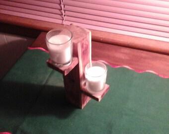 Cedar tower candle display