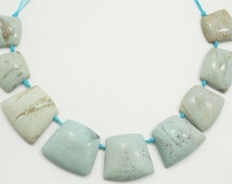 One Of A Kind Natural Brazilian Turquoise Top Drilled Trapezoid Shaped Necklace