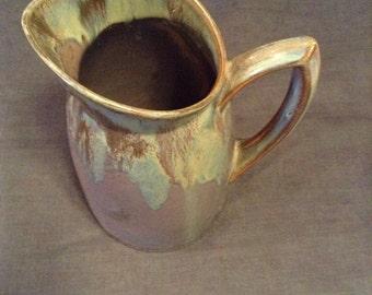 Wine jug Denbac pottery ceramic French vierzon. Water jug.