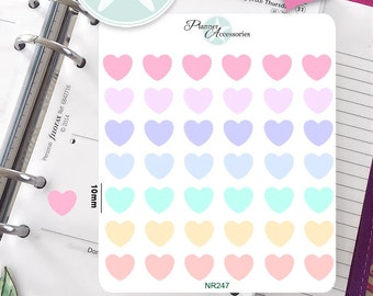 Hearts Stickers Pastel,Hearts Planner Stickers,Planner Stickers,Agenda Stickers,Cute Stickers-NR247