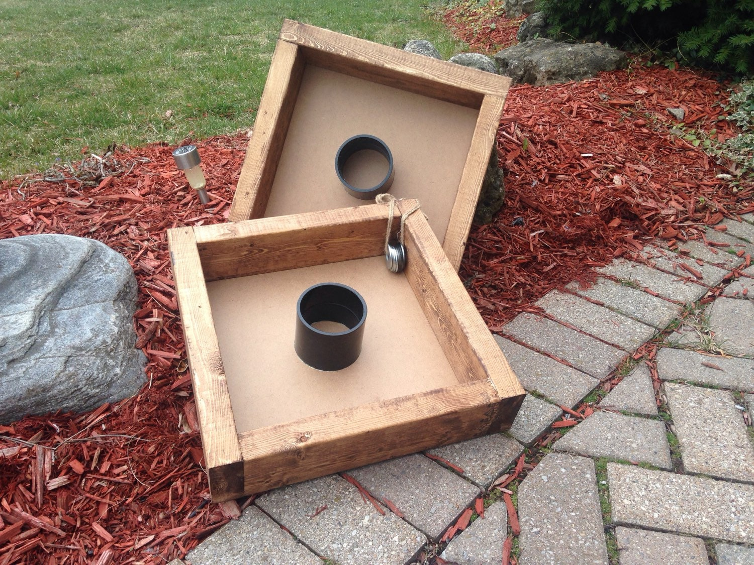 washer toss yard game