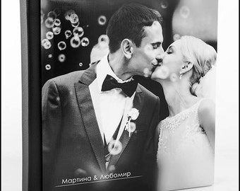 Wedding Photo Album 8X8 inches .20X20 centimeters. 50 pages. Custom Wedding Album. Personalized Wedding Photo Album.
