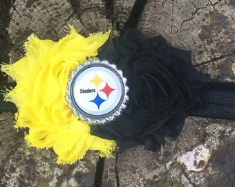 Pittsburgh Steelers Hairbow - Steelers Bow - Hairbow - Bow - Football bow - Football hairbow