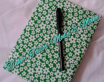 Fabric Notebook Cover (Free Notebook Included)