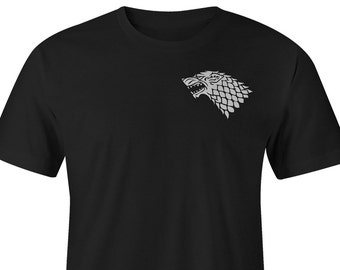 Game of Thrones Tee, Game of Thrones White wolf Tee, Game of Thrones Stark T-Shirts, Game of Thrones T-shirts, Game of Thrones Shirt