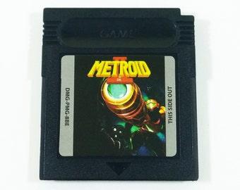 Metroid II 2 DX: Return of Samus Full Color Gameboy Cartridge for Nintendo Game Boy Enhanced Colorized Custom Cart - Free Shipping!