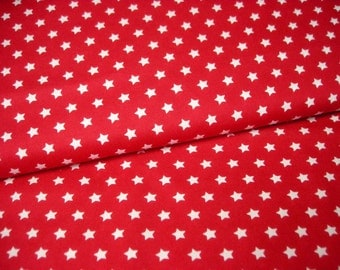 BW fabric red with white stars