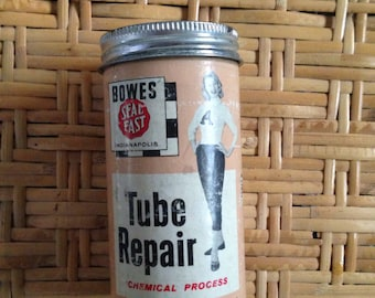 1950's bowes seal fast auto tire tube repair kit