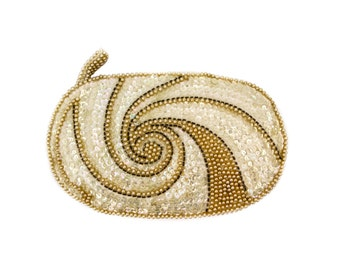 Glass Beaded and Sequined La Regale Japan Clutch Purse