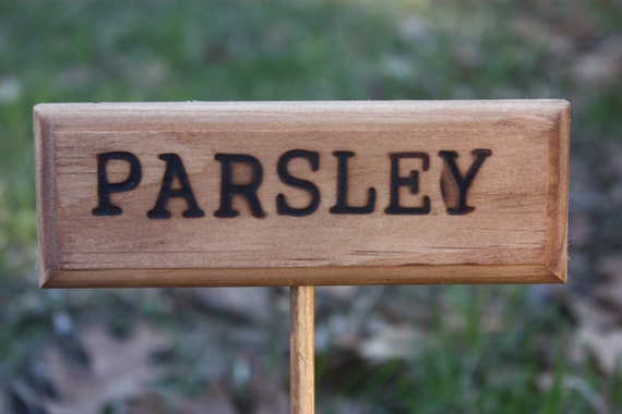items similar to herb garden signs on etsy