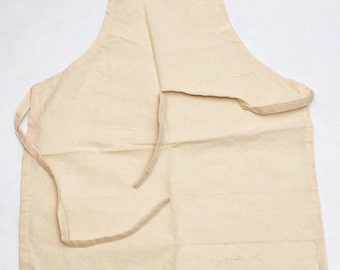 Eco friendly!!! 100% cotton canvas apron 23.6 x 33.5 inches.Ready to Decorate!Top Quality