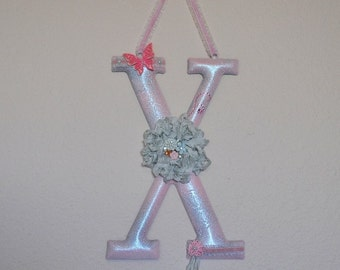 "Altered Mud Pie Metal Initial ""X"" Wall Hanging"