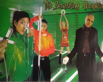 The Smashing Pumpkins 24x34 Green Group Music Poster Billy Corgan