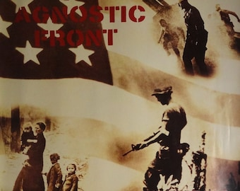 Agnostic Front 24x24 Liberty And Justice Promo Poster 1987