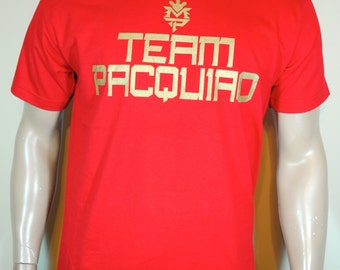 Manny Pacquiao T shirt Mens Team Pacquiao Red Tee Last Fight