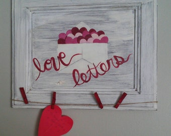 Love Letters Valentine Display Sign