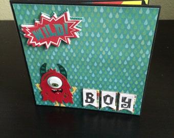 Handmade monsters scrapbook mini album