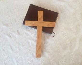 Small Oak Wall Cross, Wooden Cross