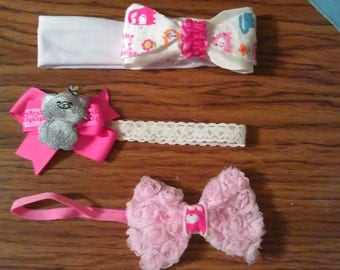 kitty cat headband bows