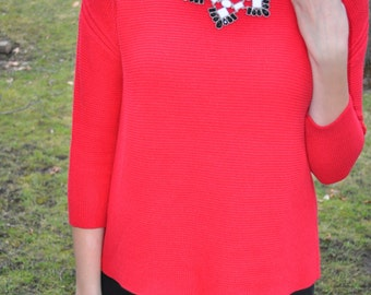Small Sassy Red Sweater