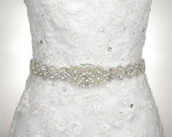"36"" L Rhinestone Belt Wedding Dress Belt Bridal Bridesmaid Flower Girl Dress Belt Wedding Sash S119"