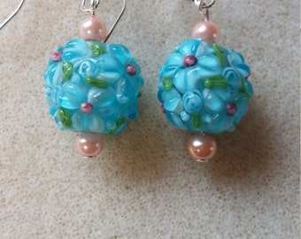 Intricate floral earrings