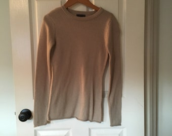 Tan Crewneck Sweater size small/xs