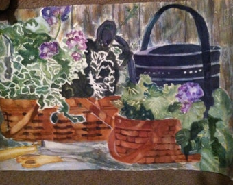 Baskets with Geraniums