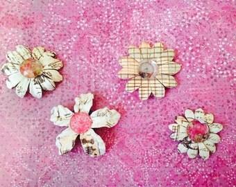 Unique paper flower magnets